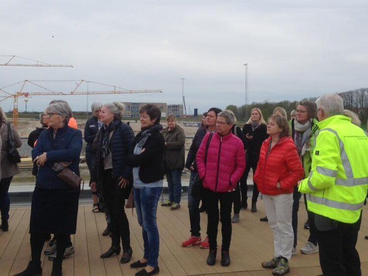På besøg på byggepladsen ved Aalborgs nye hospital.